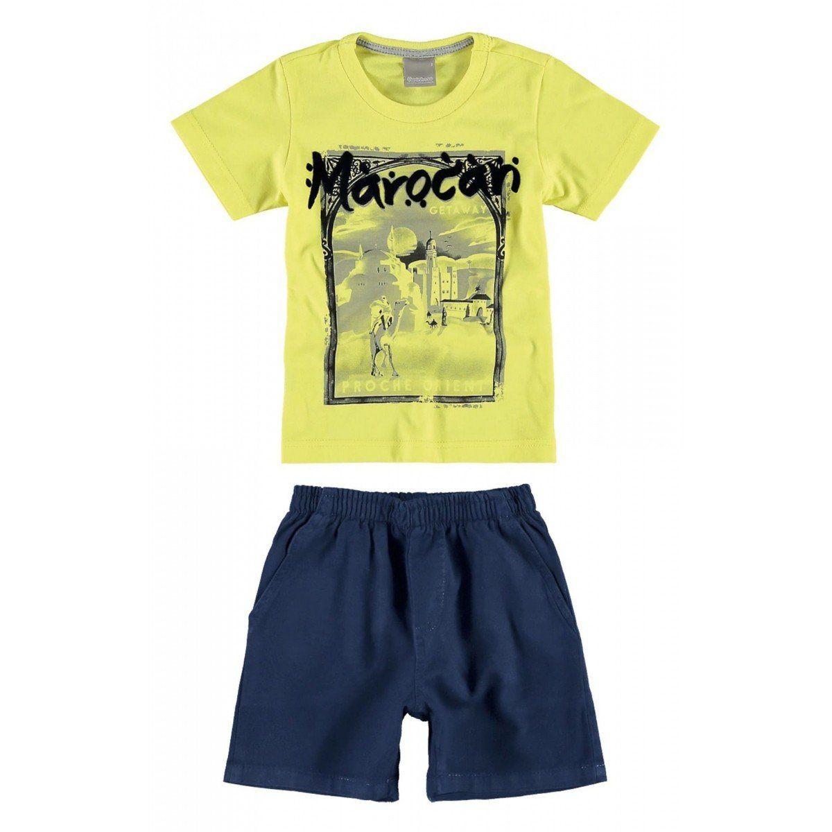 Conjunto Infantil Masculino Amarelo Marocan Carinhoso