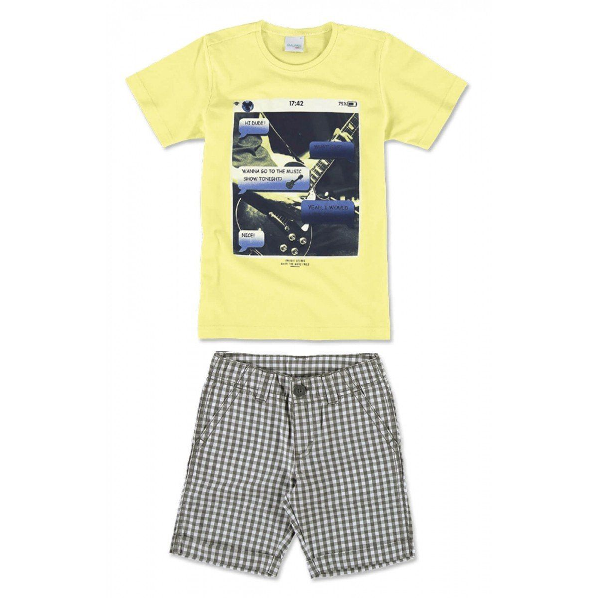 Conjunto Infantil Masculino Amarelo Print Malwee