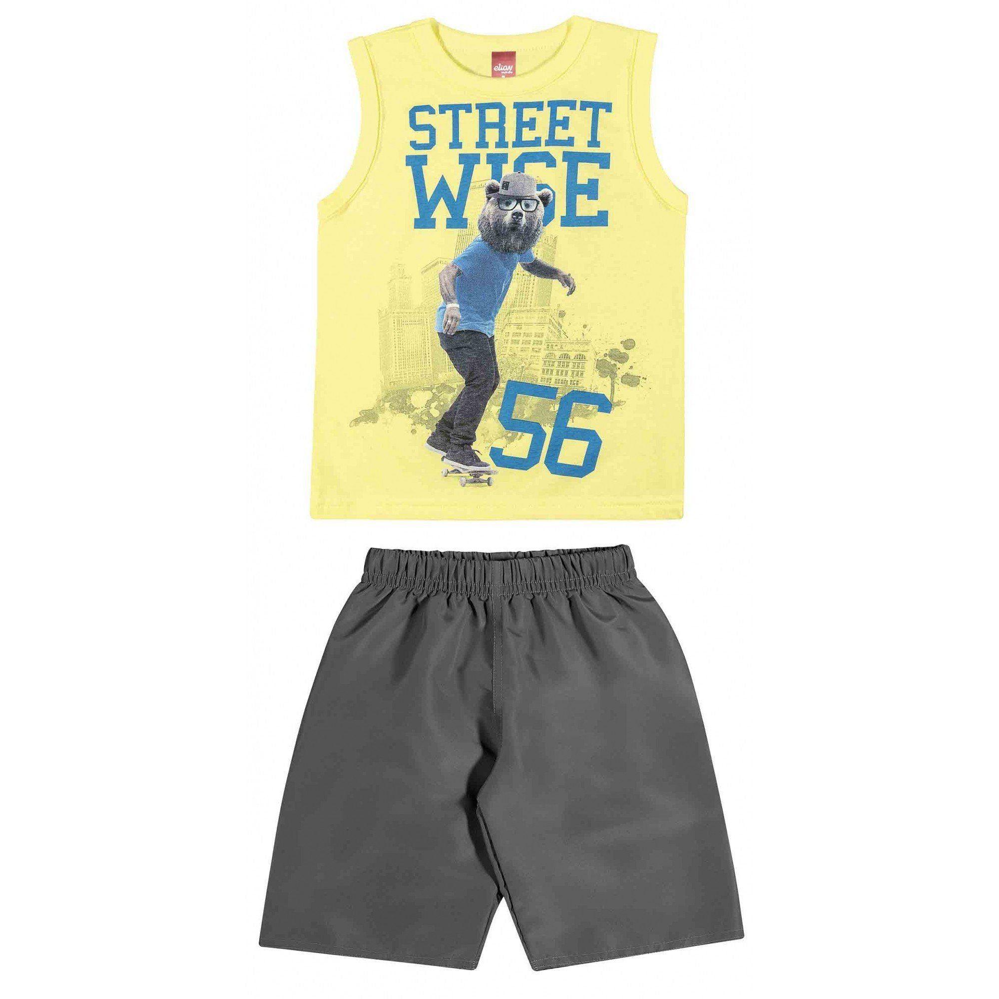 Conjunto Infantil Masculino Amarelo Street Wise Elian
