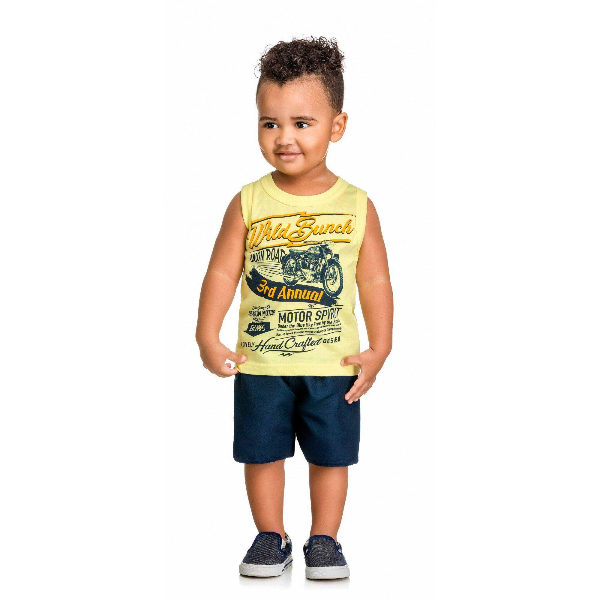 Conjunto Infantil Masculino Amarelo Wild Bunch Elian