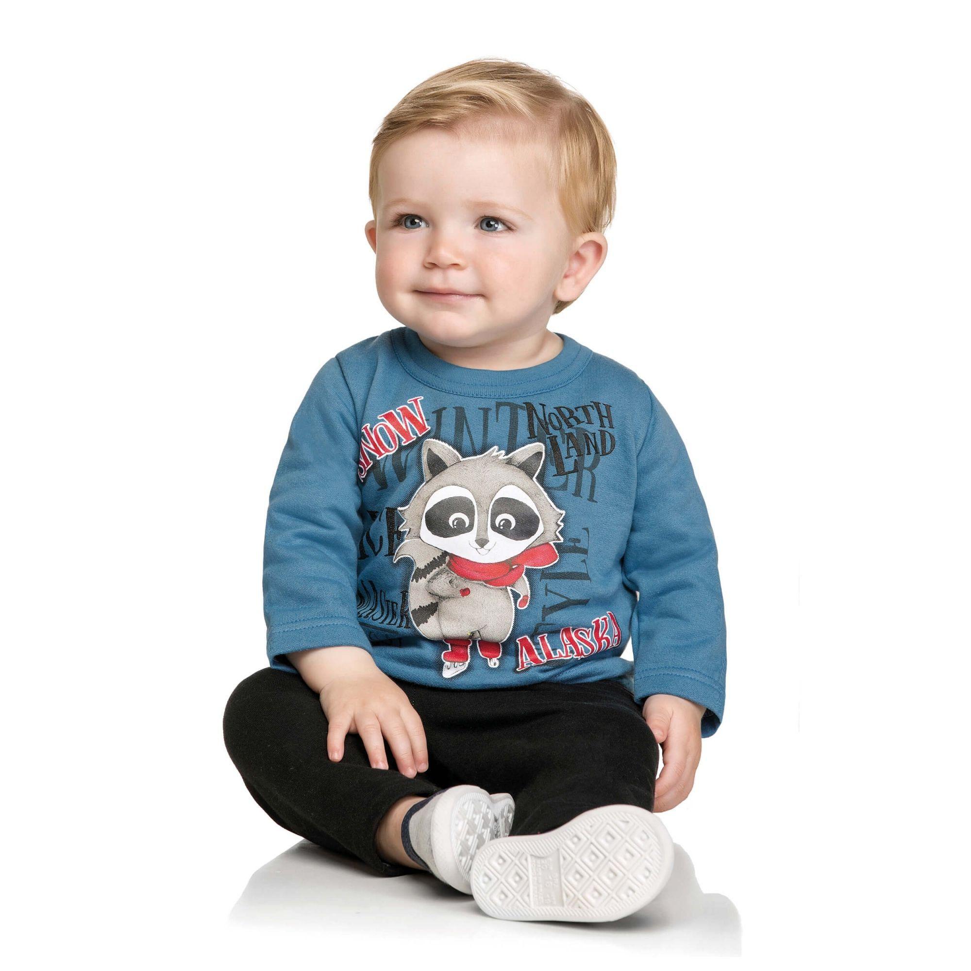 Conjunto Infantil Masculino Inverno Azul Guaxinim Elian