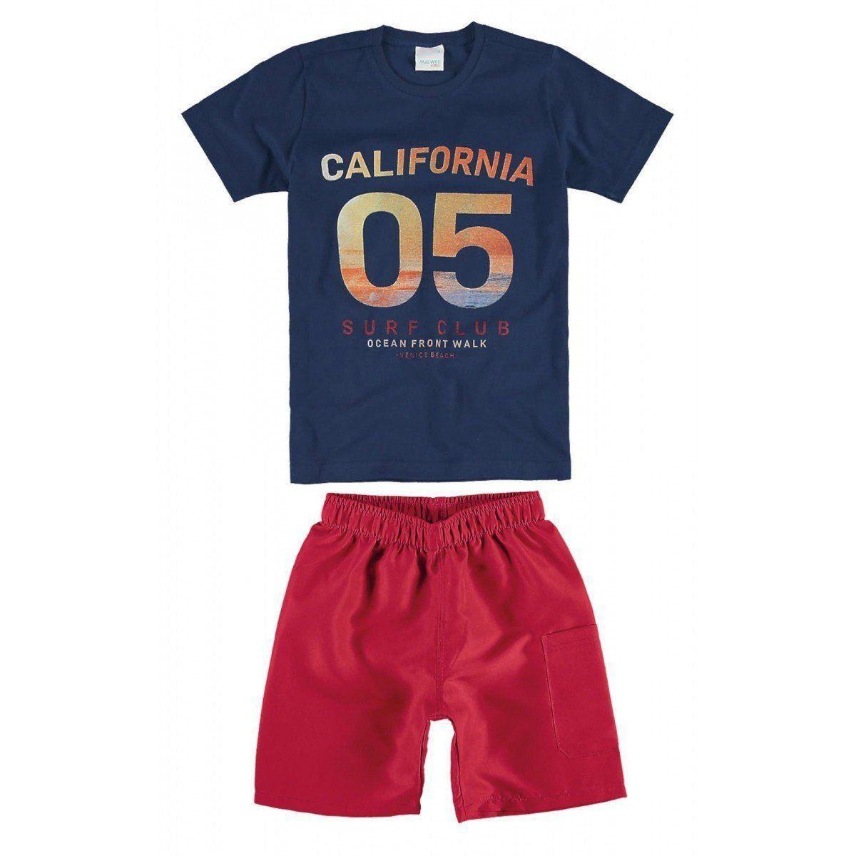 Conjunto Infantil Masculino Azul Marinho California Malwee