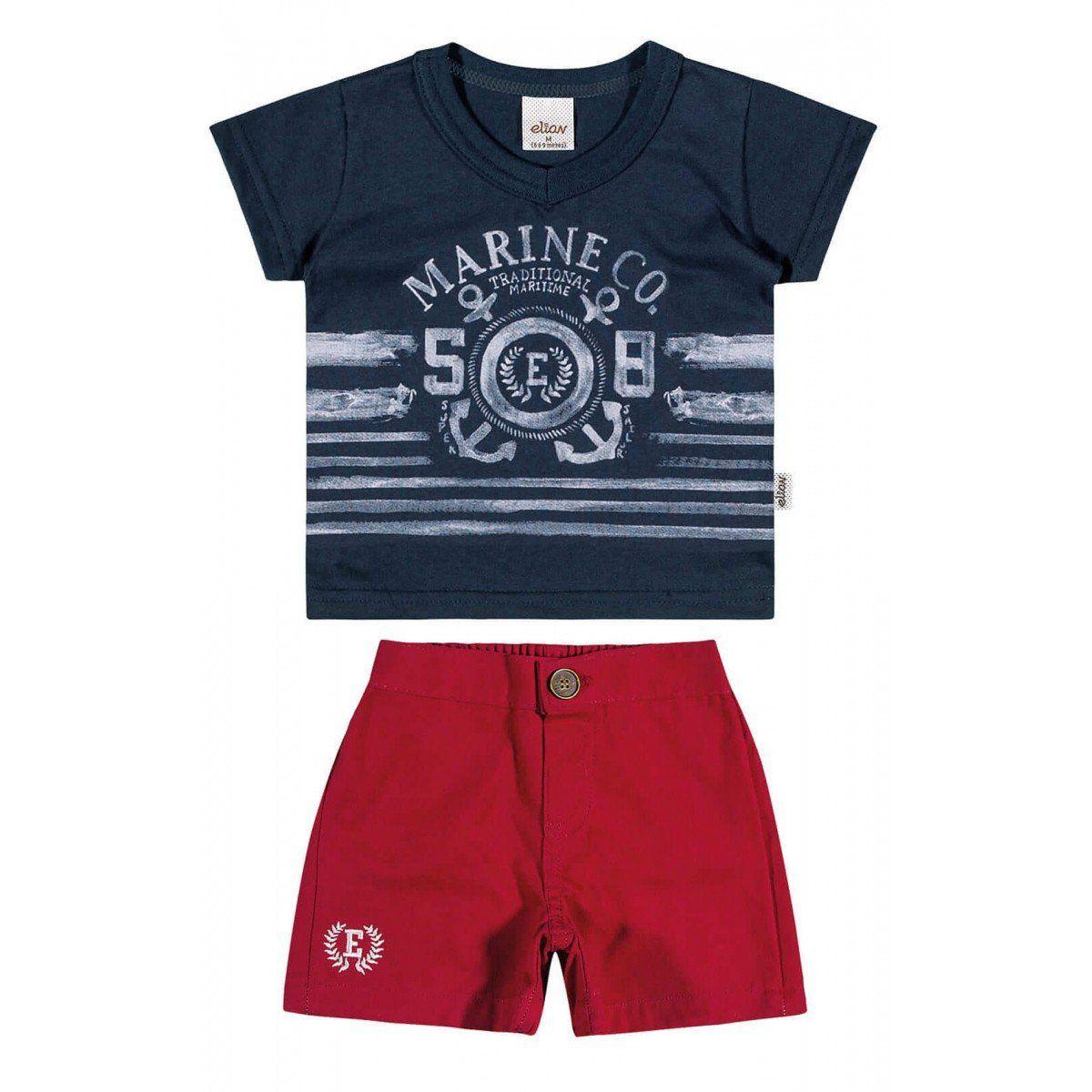 Conjunto Infantil Masculino Azul Marinho Marine Elian