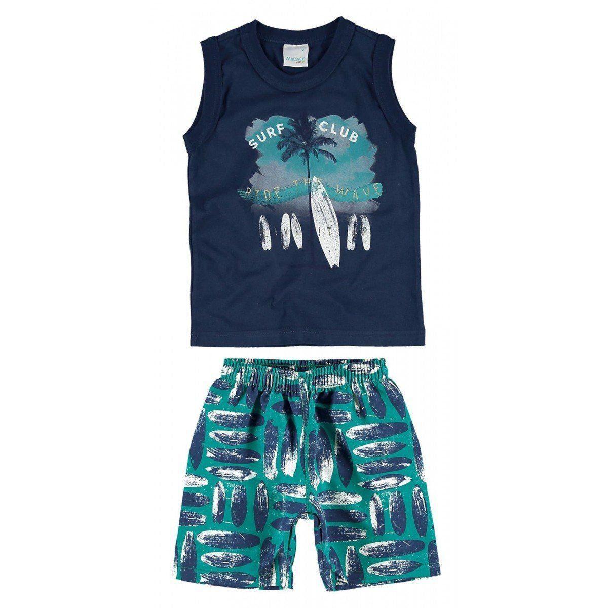 Conjunto Infantil Masculino Azul Marinho Surf Club Malwee