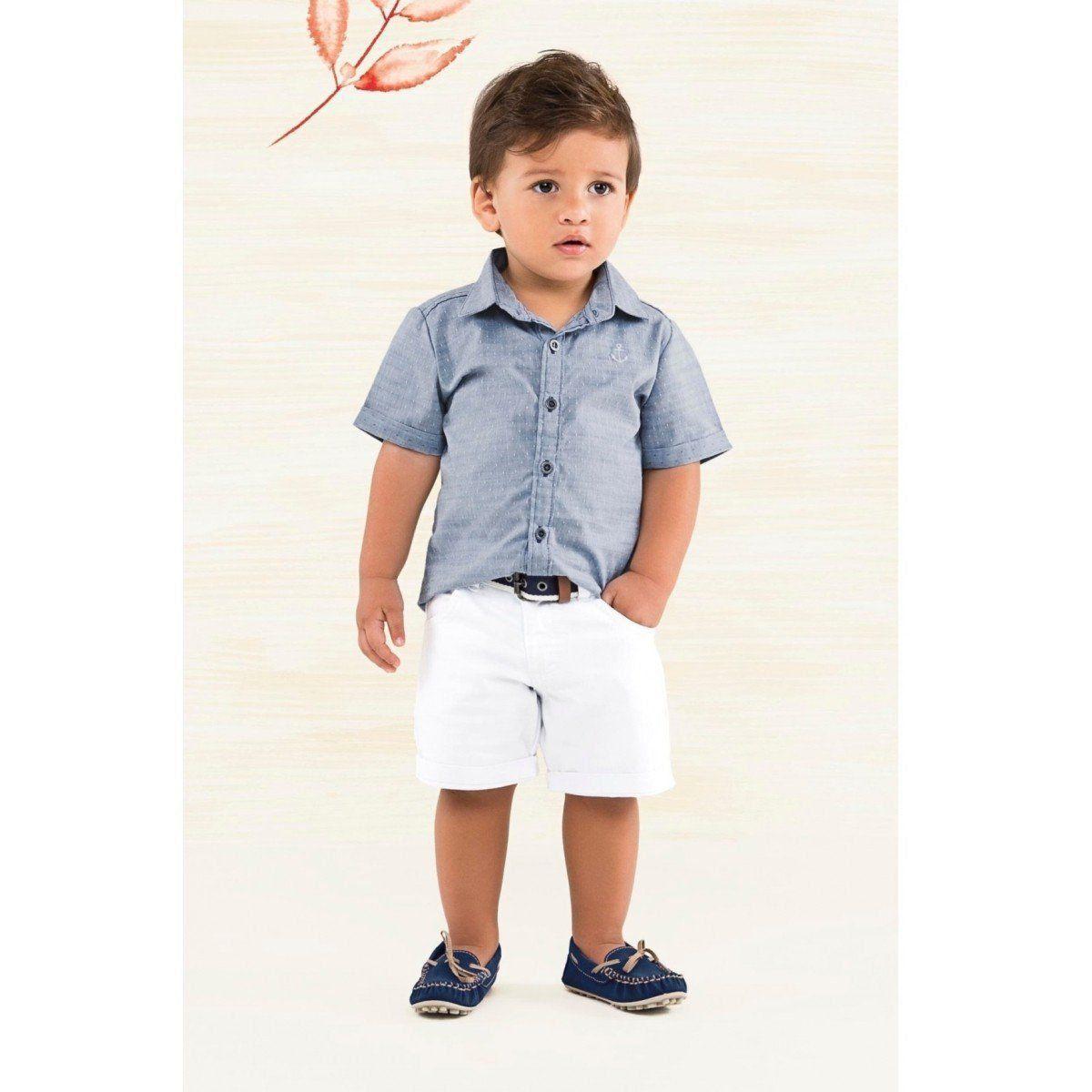 Conjunto Infantil Masculino Azul Navy Carinhoso