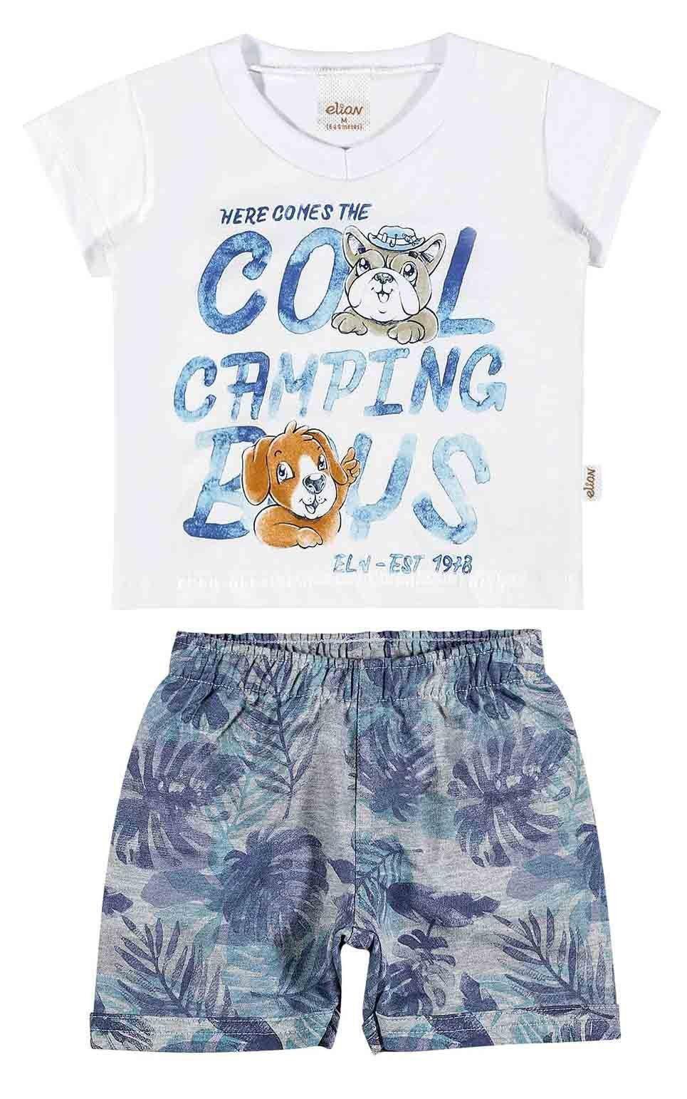 Conjunto Infantil Masculino Branco Cool Camping Boys Elian