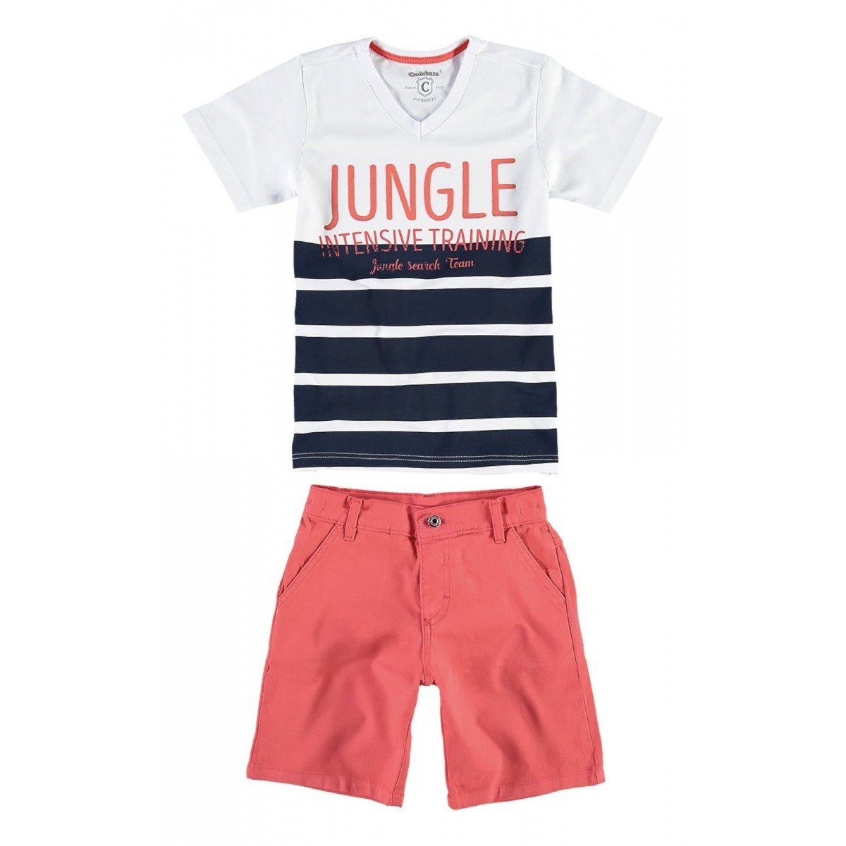 Conjunto Infantil Masculino Branco Jungle Carinhoso