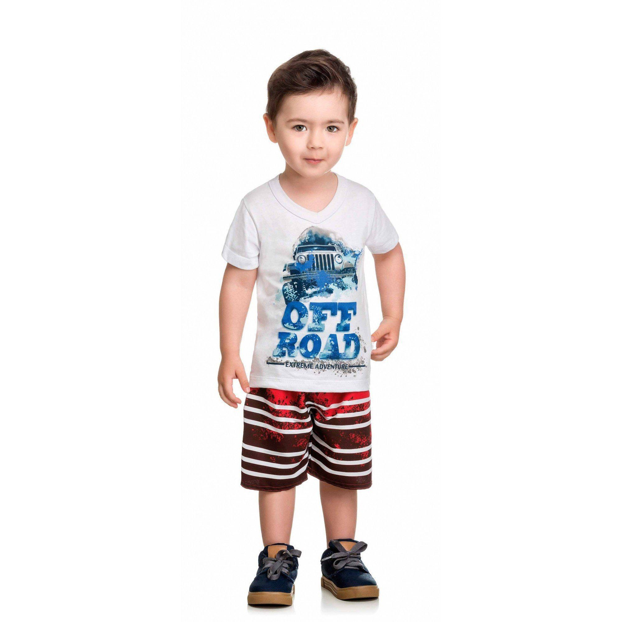 Conjunto Infantil Masculino Branco Off Road Elian