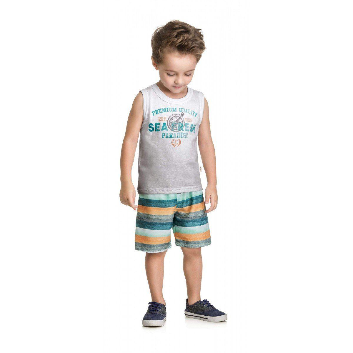 Conjunto Infantil Masculino Branco Sea Fresh Elian