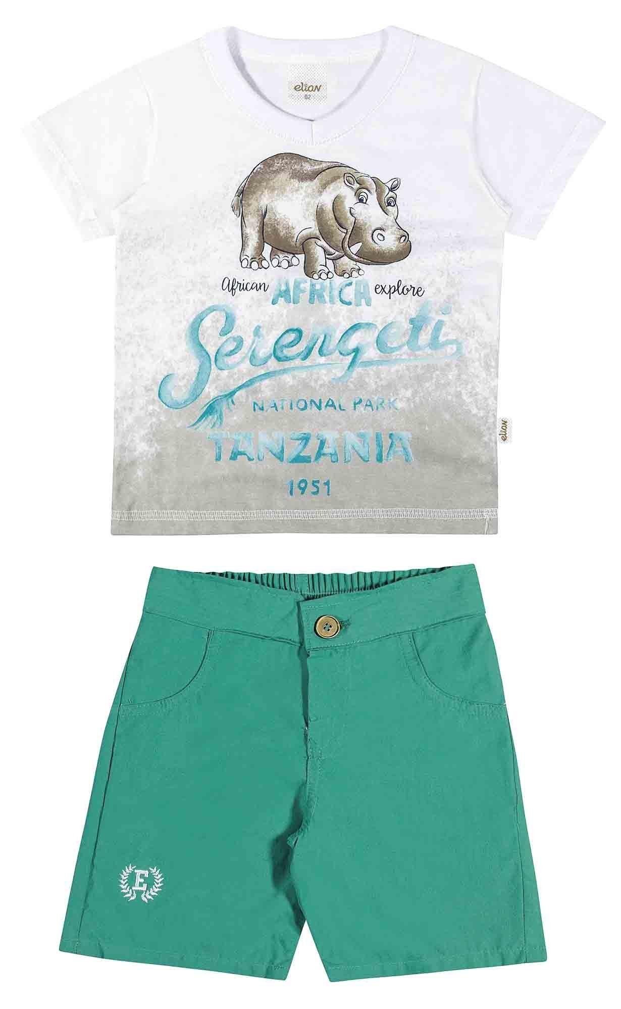 Conjunto Infantil Masculino Branco Serengeti Elian