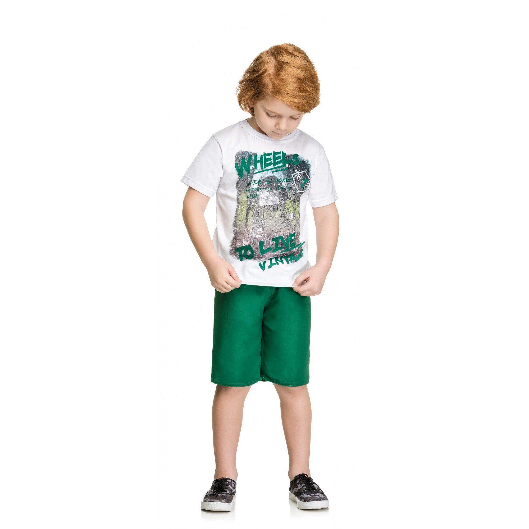Conjunto Infantil Masculino Branca Wheels Elian