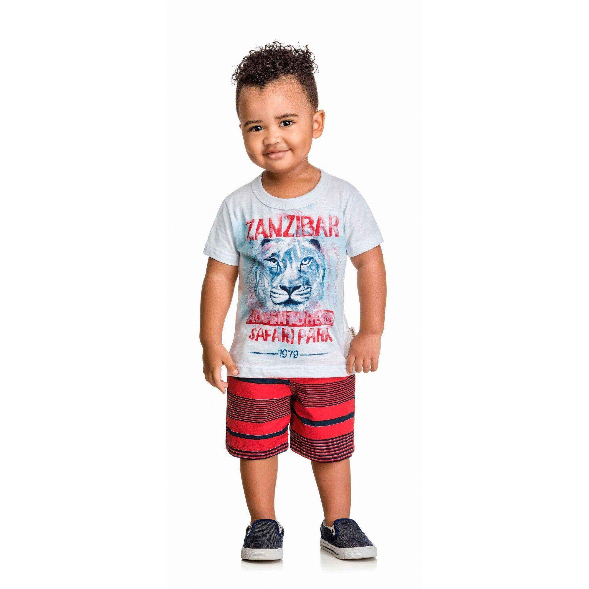 Conjunto Infantil Masculino Branco Zanzibar Elian