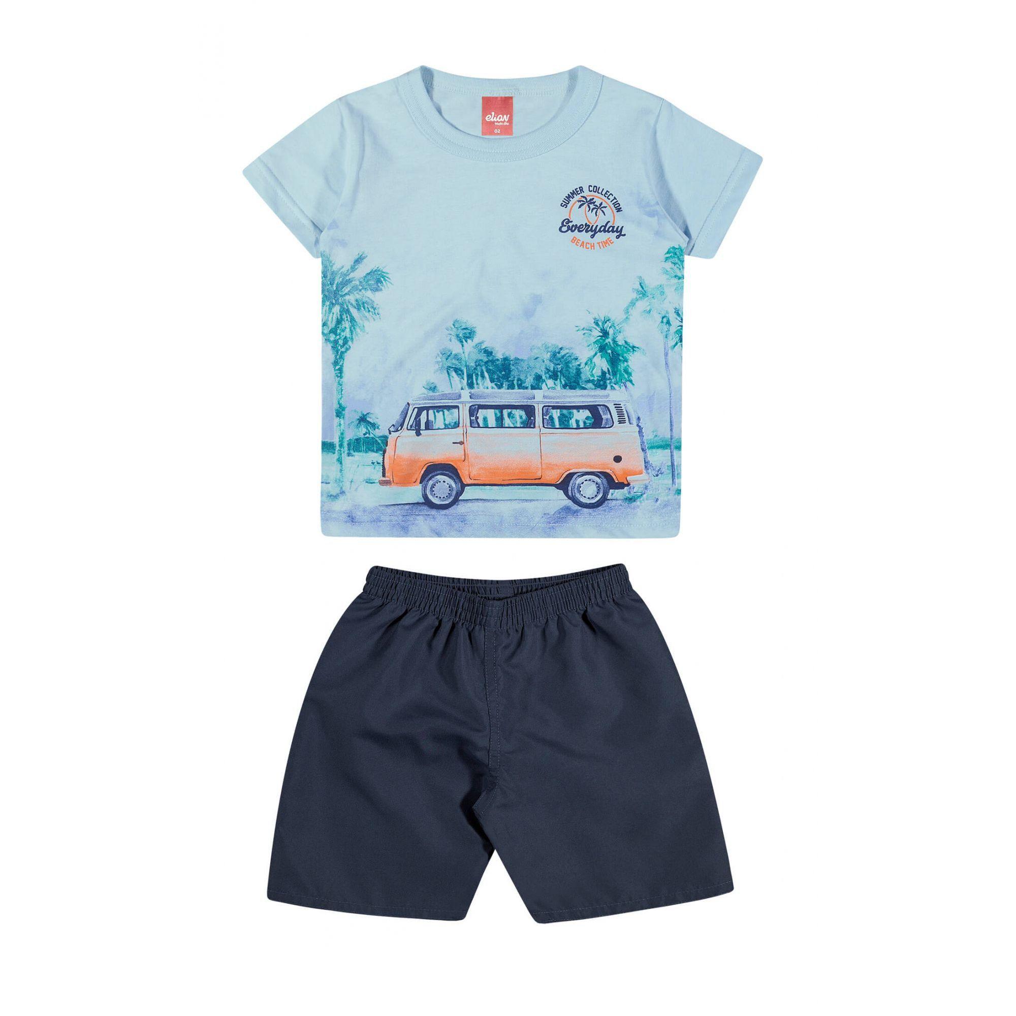 Conjunto Infantil Masculino Azul Everyday Elian
