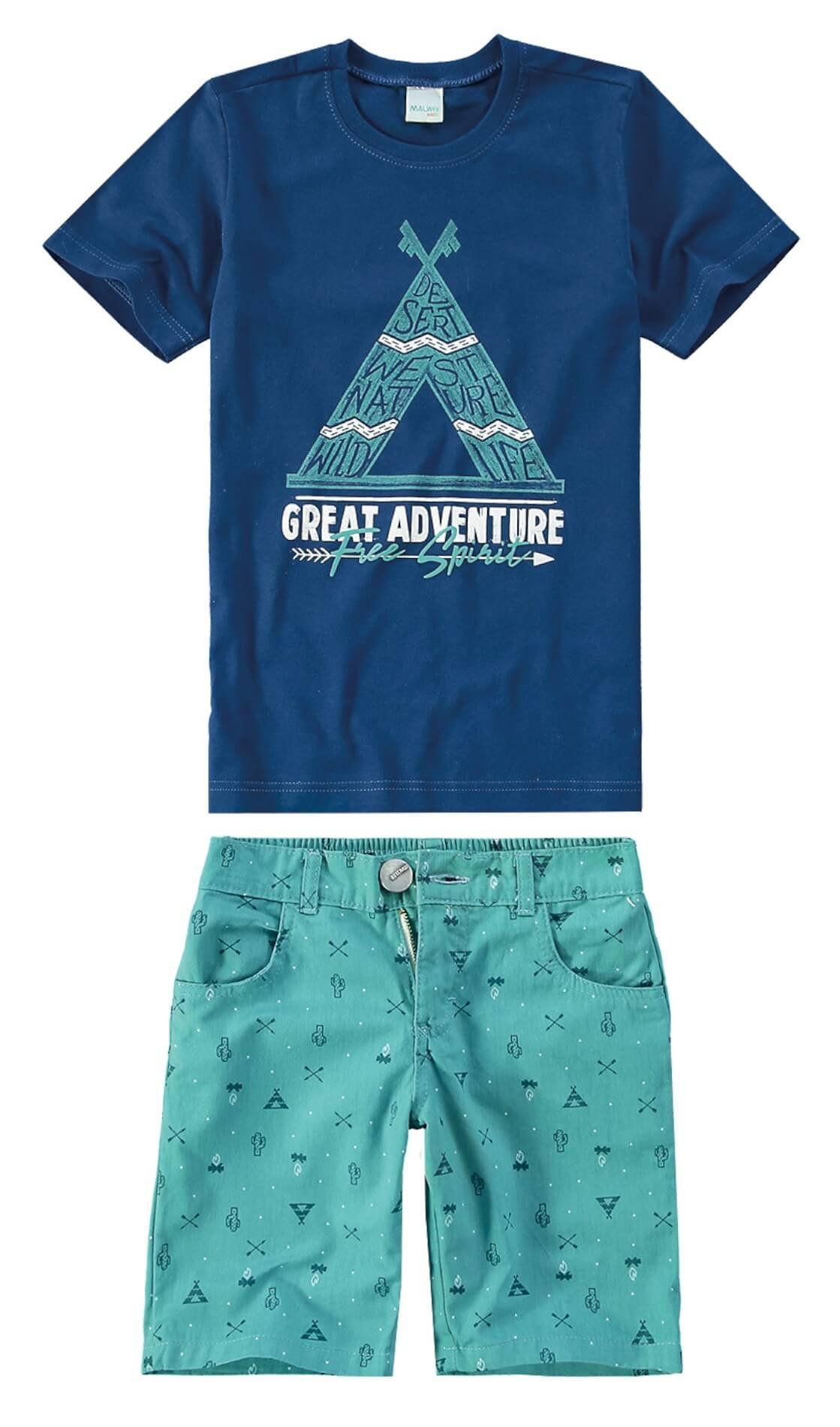 Conjunto Infantil Masculino Azul Marinho Adventure Malwee