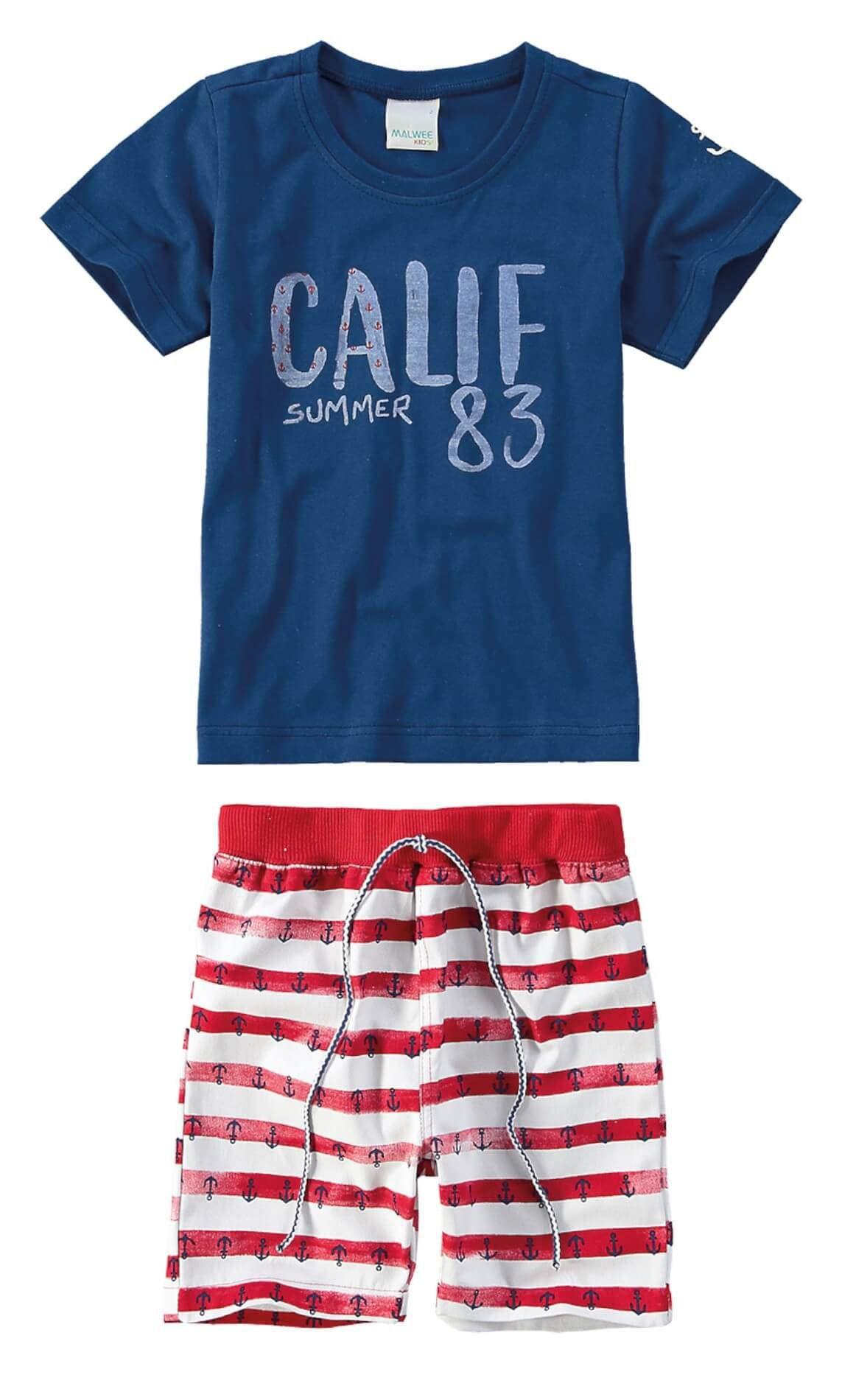 Conjunto Infantil Masculino Azul Marinho Calif Malwee