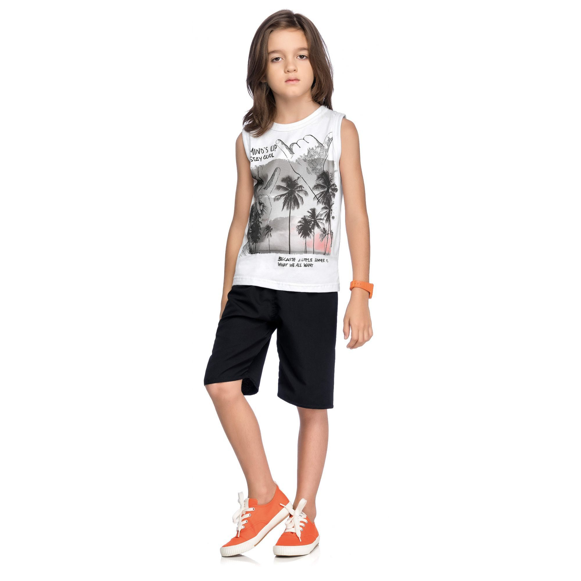 Conjunto Infantil Masculino Branco Mind's Up Elian