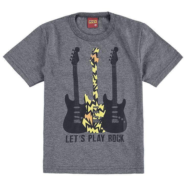Conjunto Infantil Masculino Cinza Mescla Guitarra Kyly