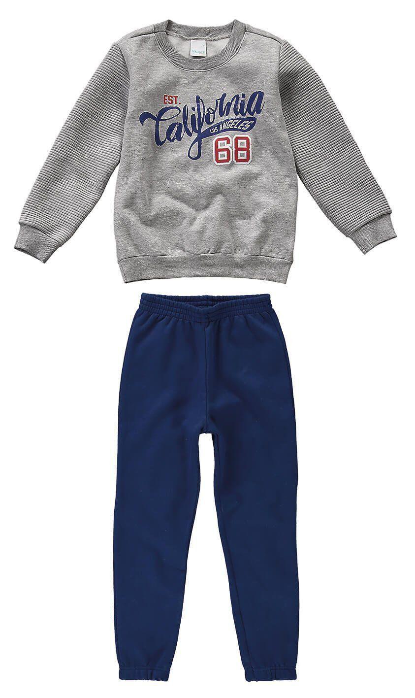 Conjunto Infantil Masculino Inverno Cinza Mescla California Malwee