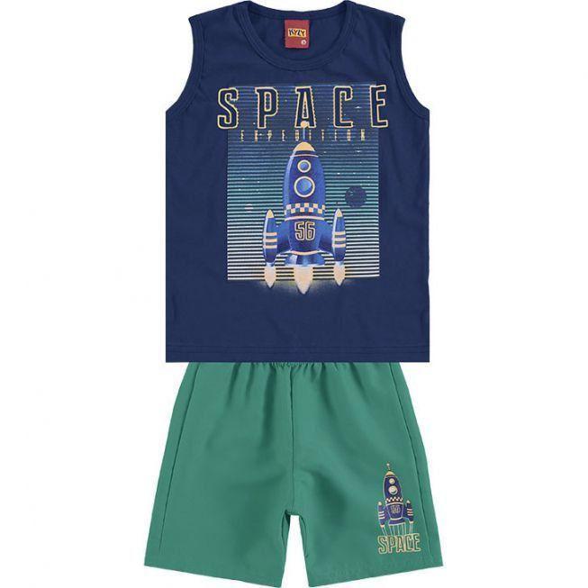 Conjunto Infantil Masculino Marinho Space Kyly