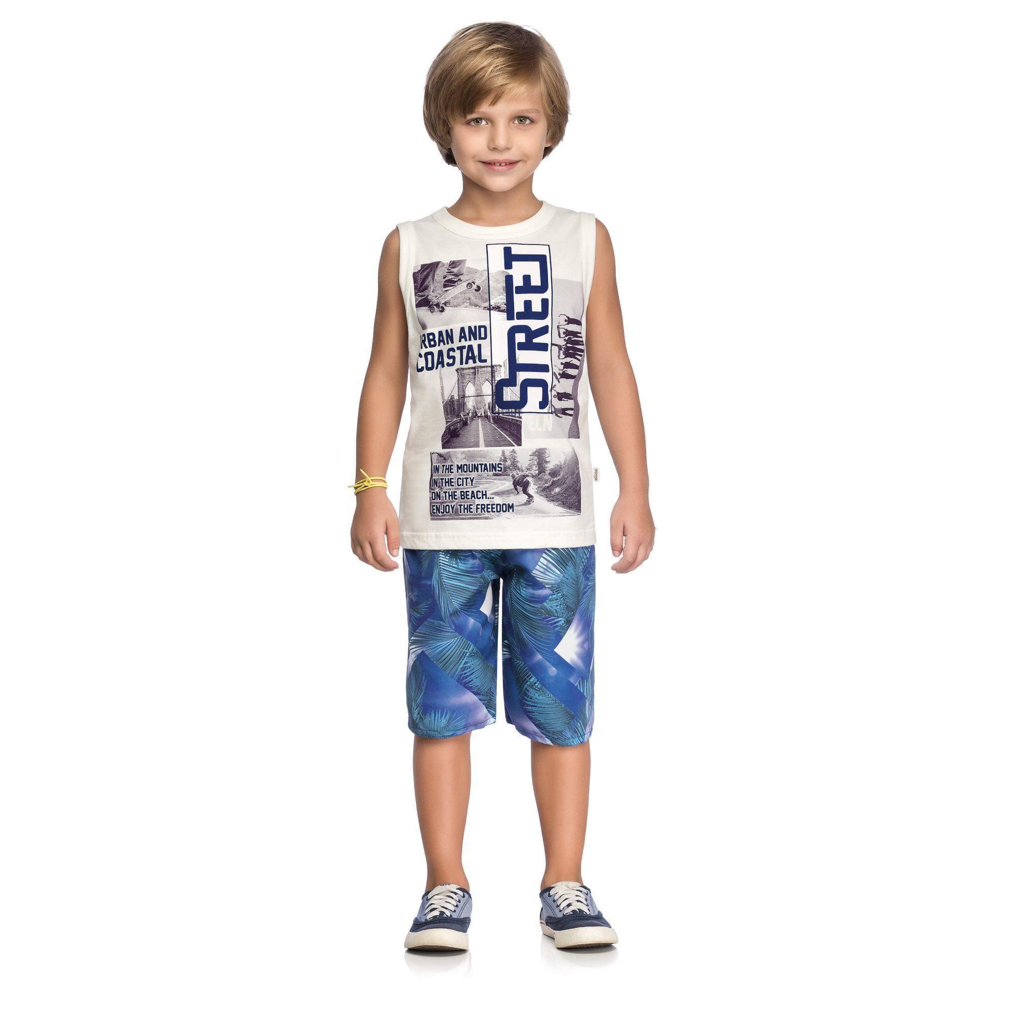 Conjunto Infantil Masculino OffWhite Street Elian