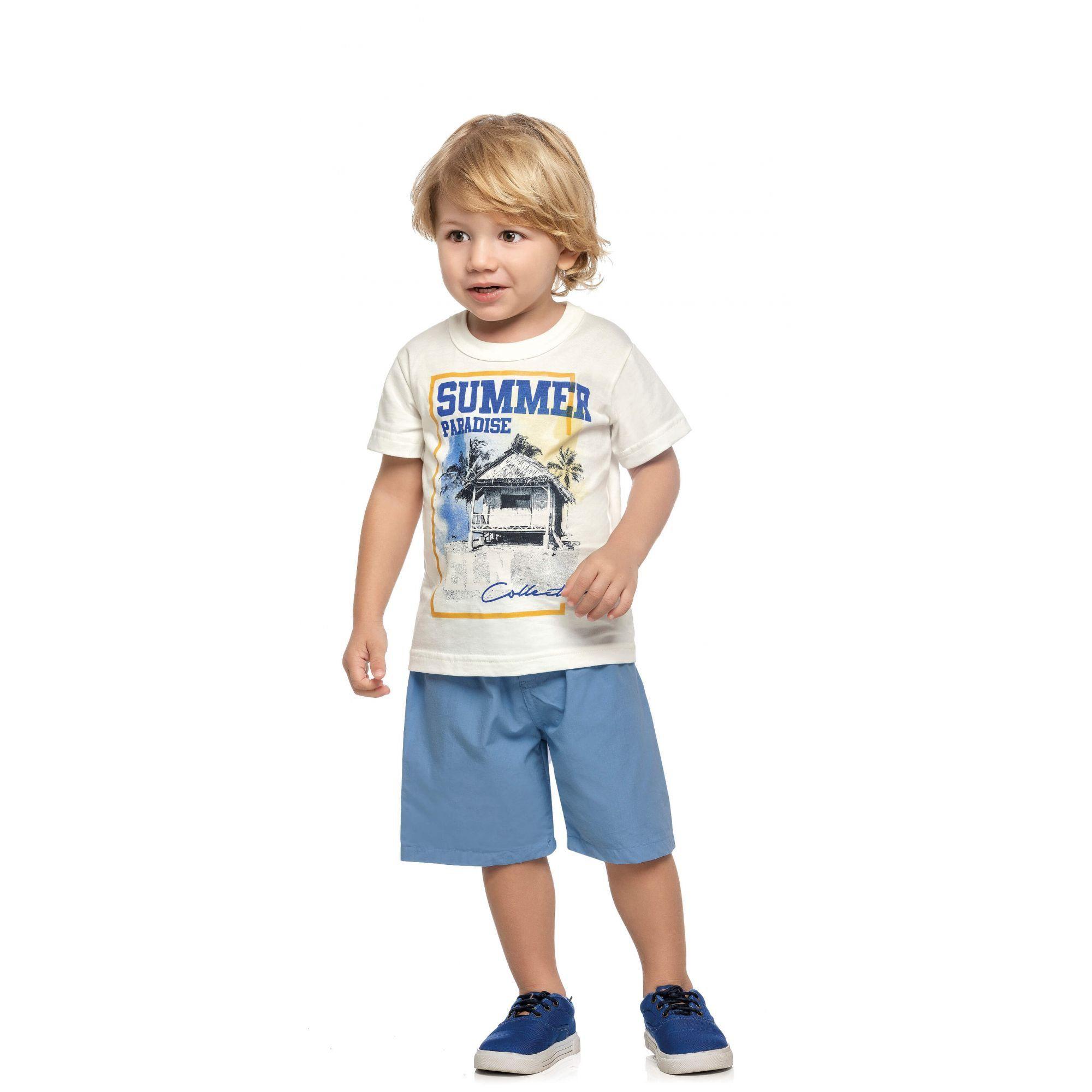 Conjunto Infantil Masculino OffWhite Summer Elian