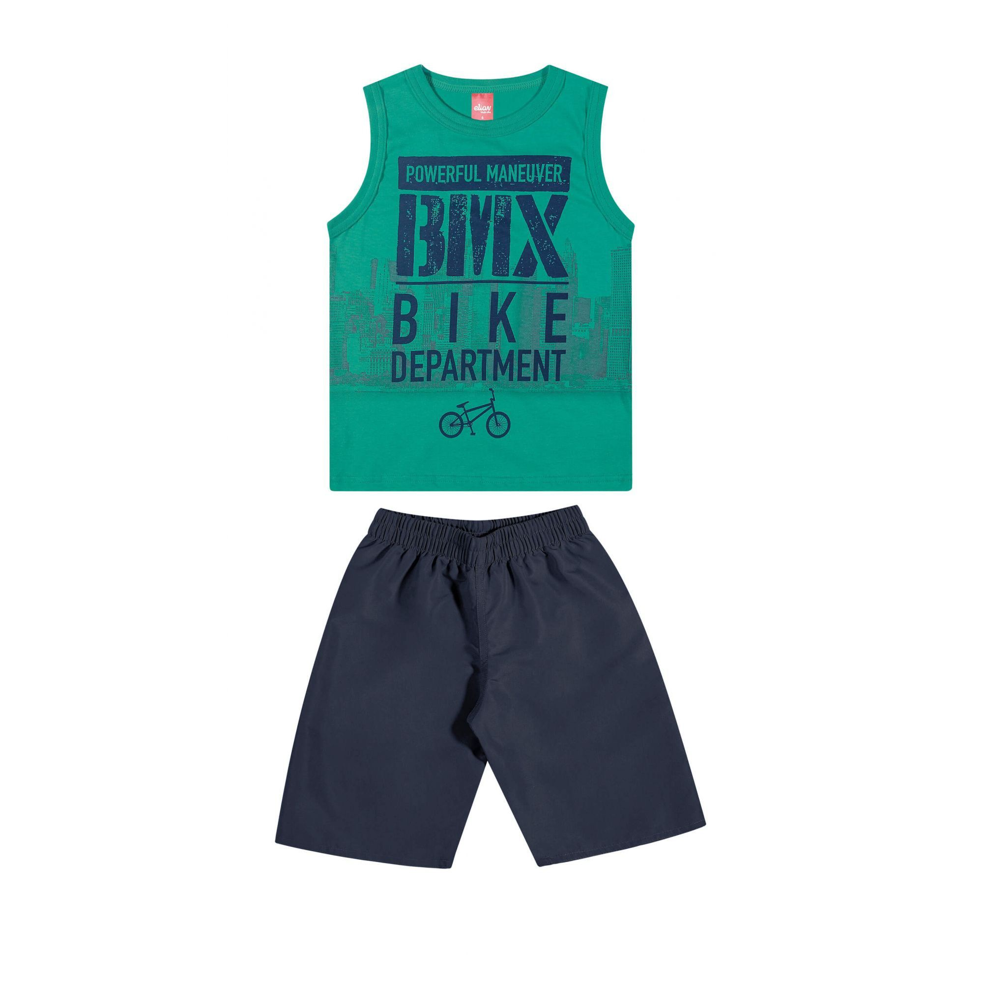 Conjunto Infantil Masculino Verde Bike Elian