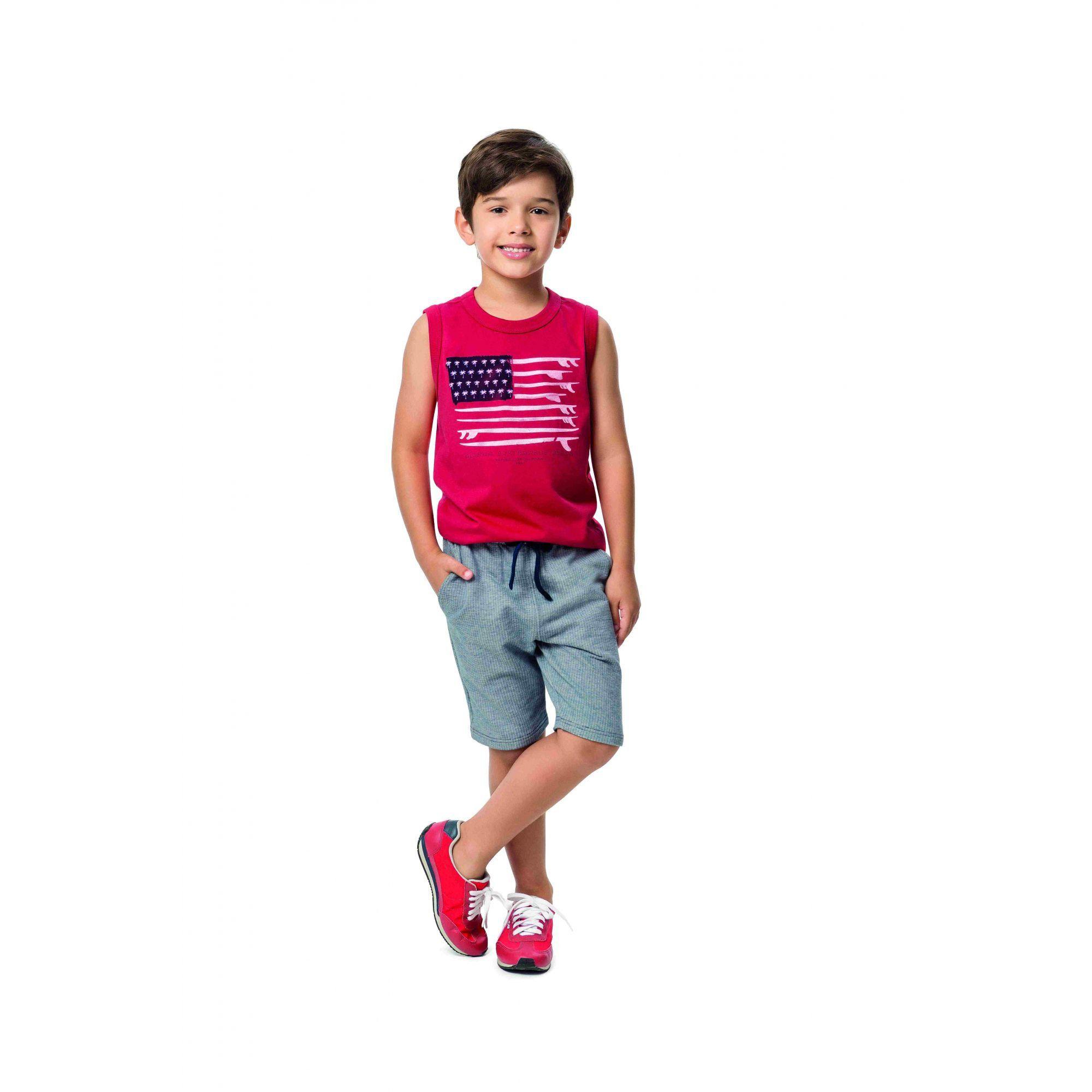 Conjunto Infantil Masculino Vermelho Surfboards Malwee