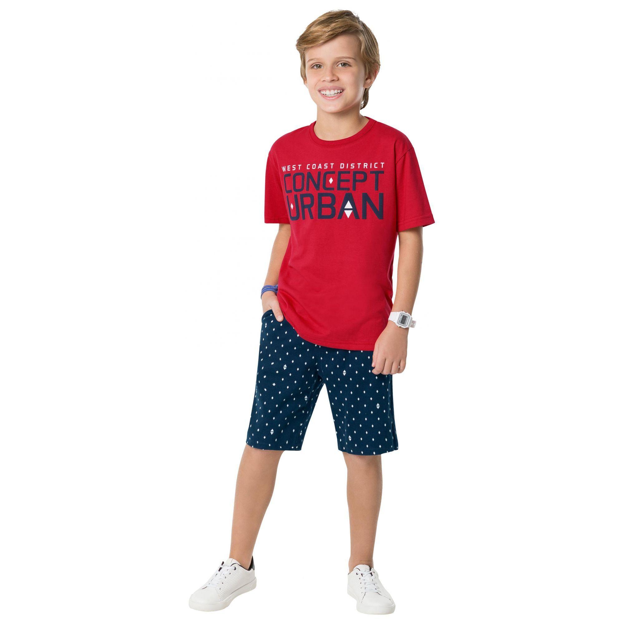 Conjunto Infantil Masculino Vermelho Urban Kyly