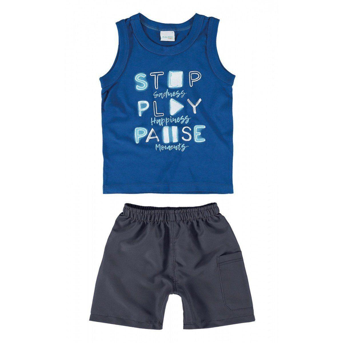 Conjunto Infantil Masculino Azul Royal Moments Malwee