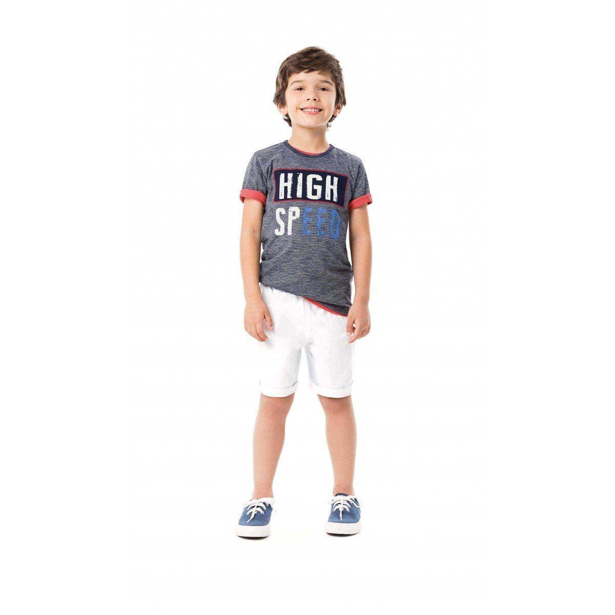 Conjunto Infantil Masculino Cinza Mescla High Speed Malwee