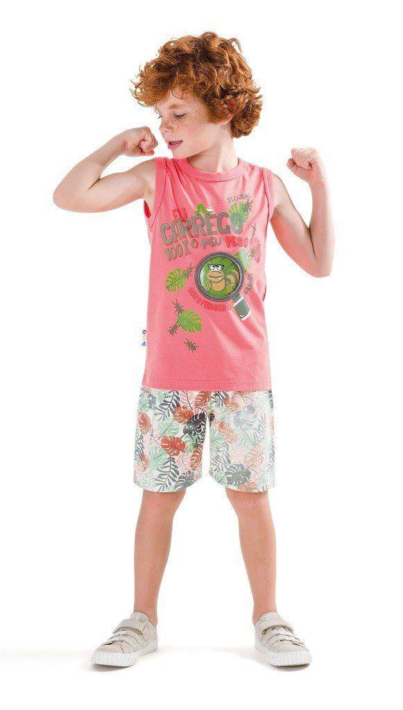 Conjunto Infantil Masculino Salmão Formiga Zig Zig Zaa