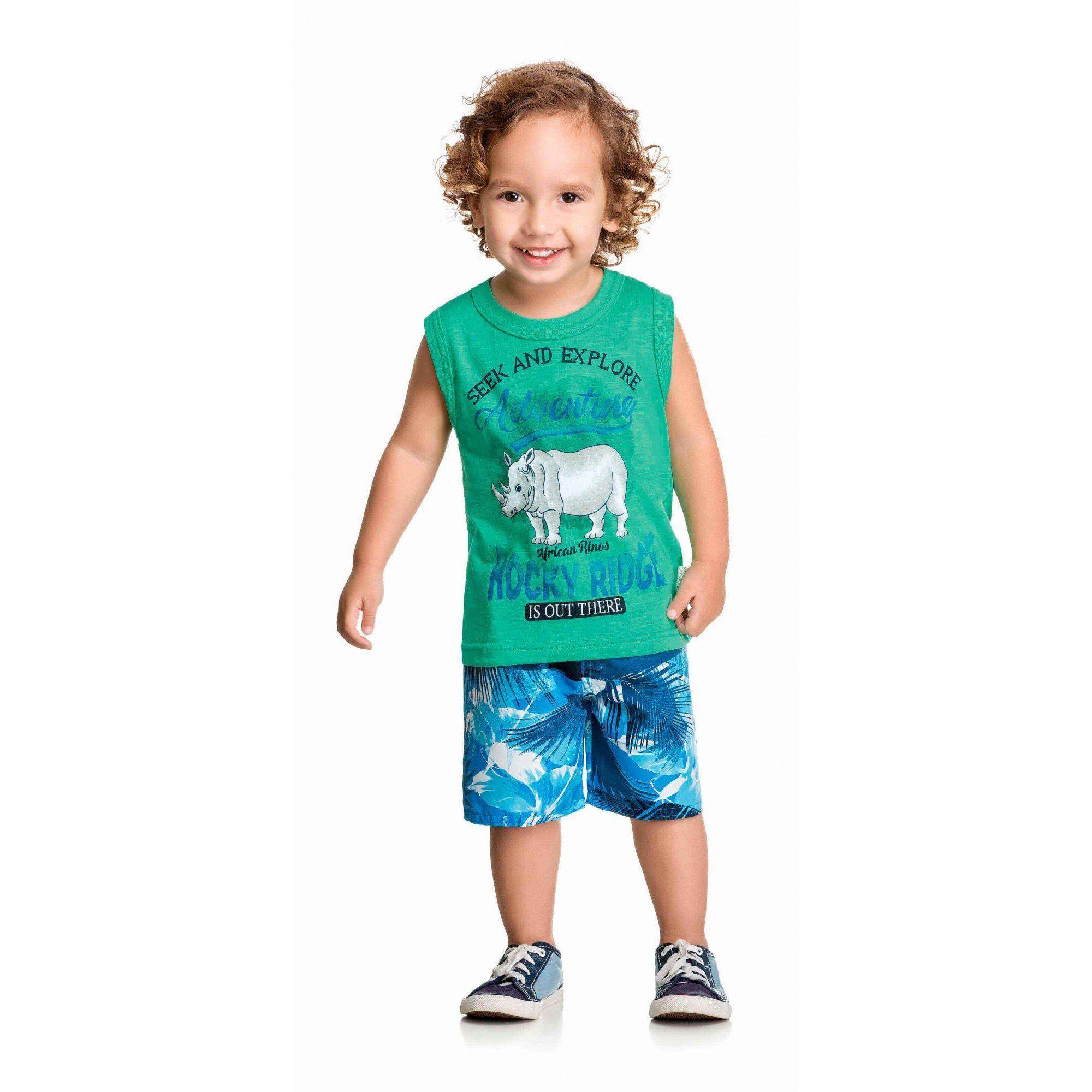 Conjunto Infantil Masculino Verde Adventure Elian