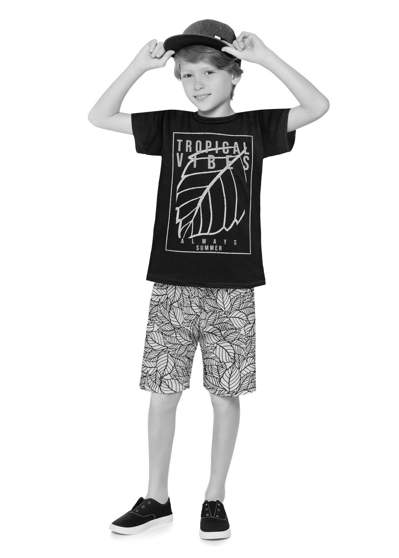 Conjunto Infantil Masculino Short e Camiseta Verde Bambu – Kyly: Tabela de medidas
