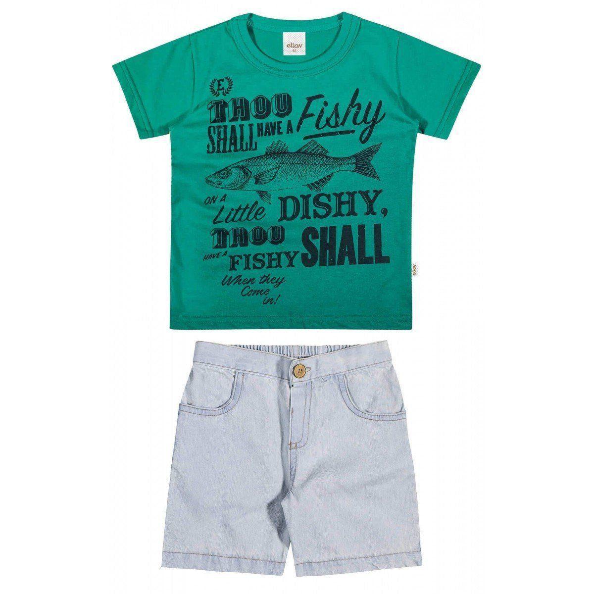 Conjunto Infantil Masculino Verde Fishy Elian