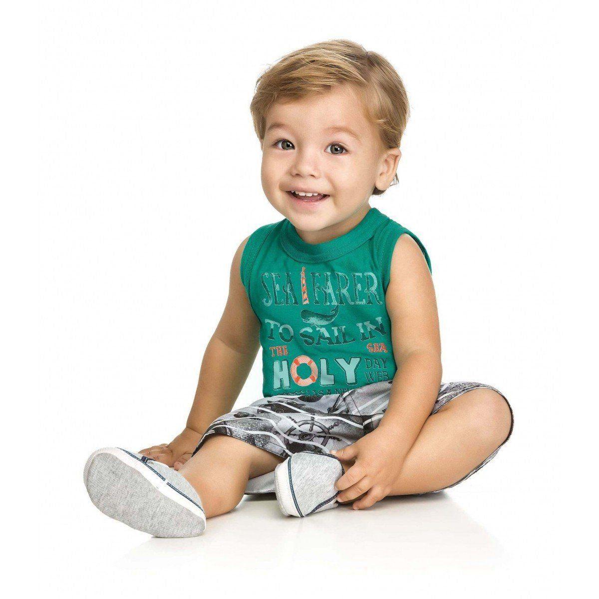 Conjunto Infantil Masculino Verde Sea Farer Elian