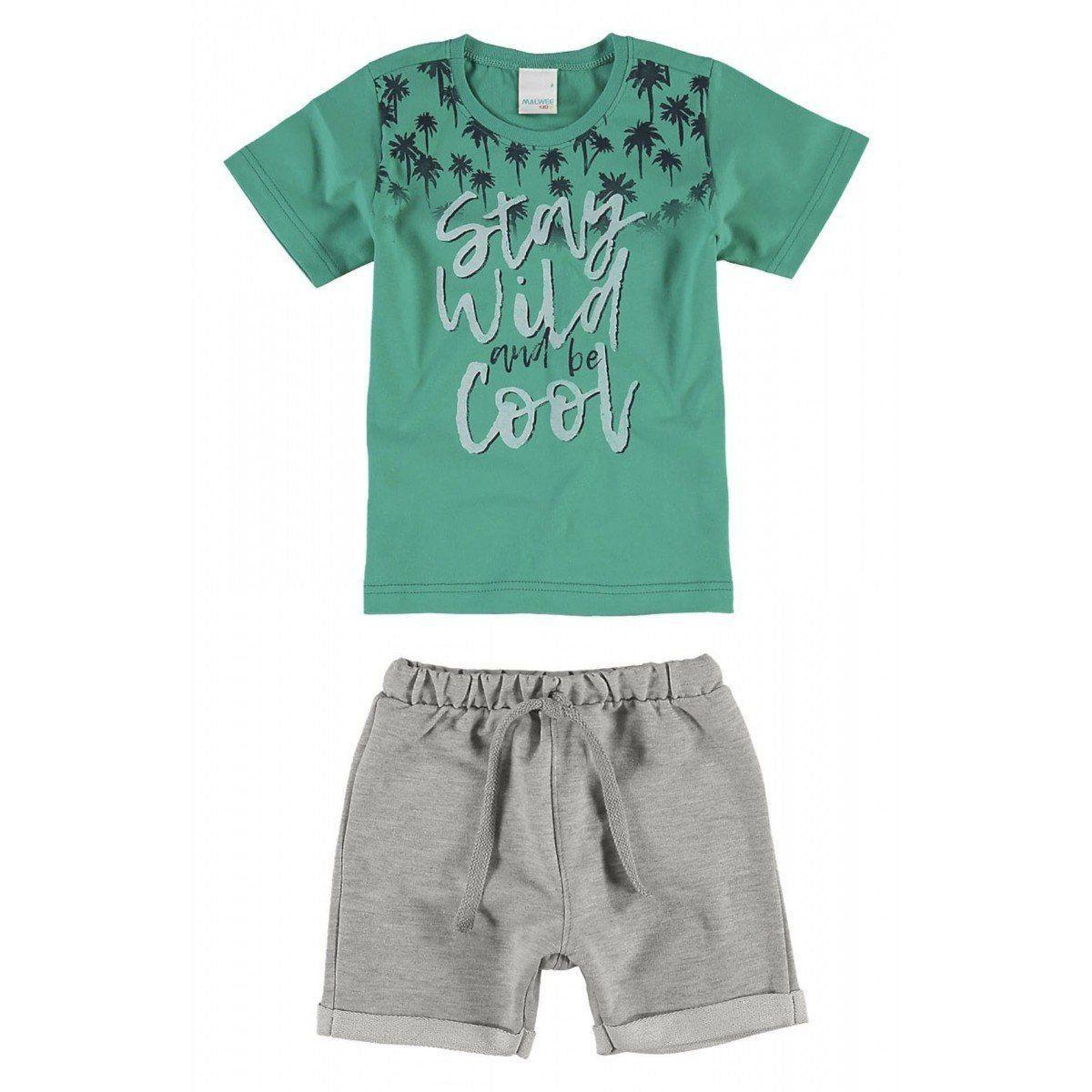Conjunto Infantil Masculino Verde Stay Wild Malwee