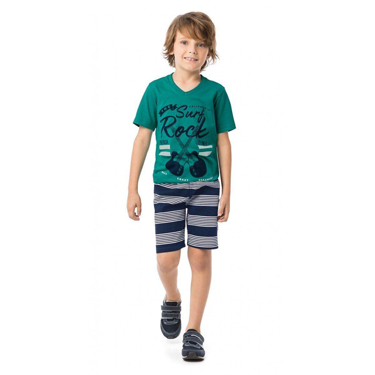 Conjunto Infantil Masculino Verde The Surf Rock Malwee