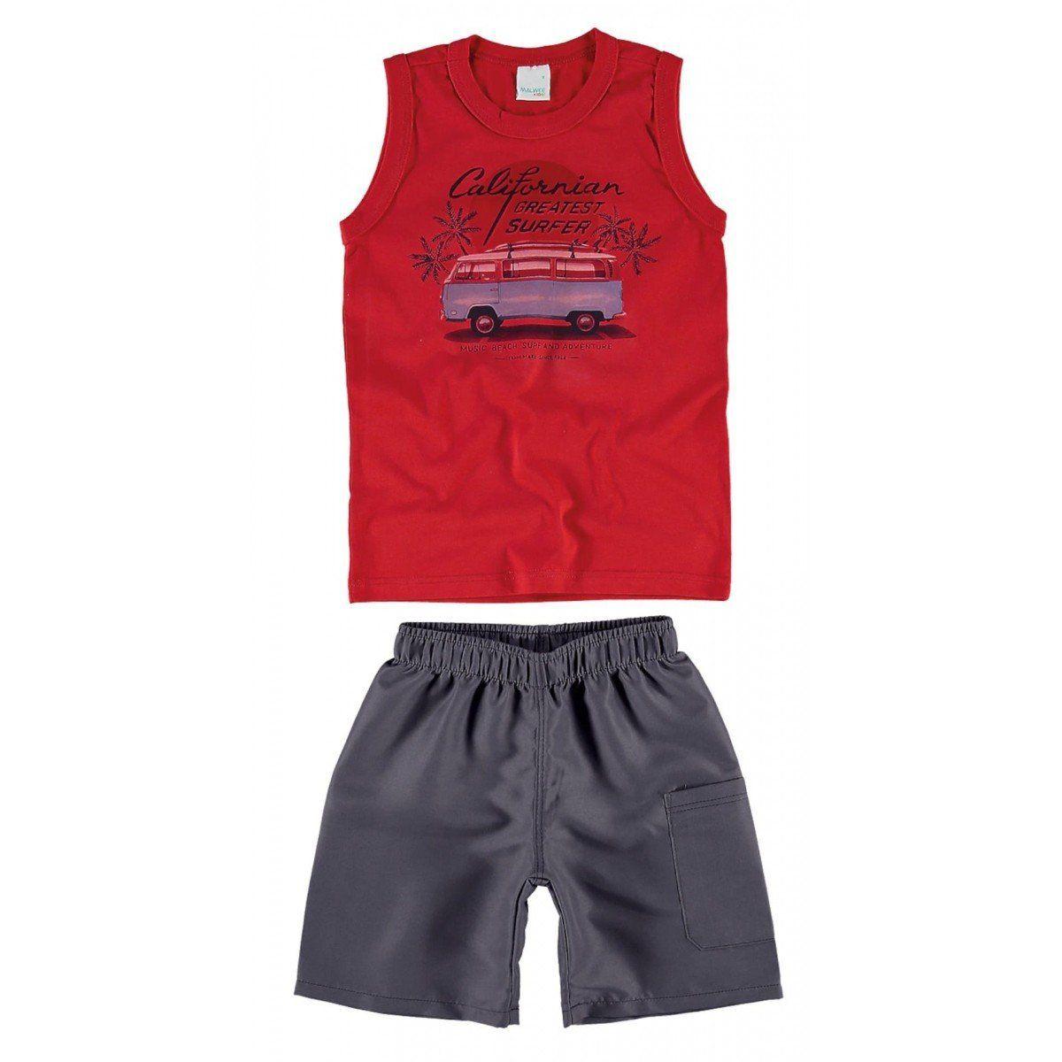 Conjunto Infantil Masculino Vermelha California Malwee