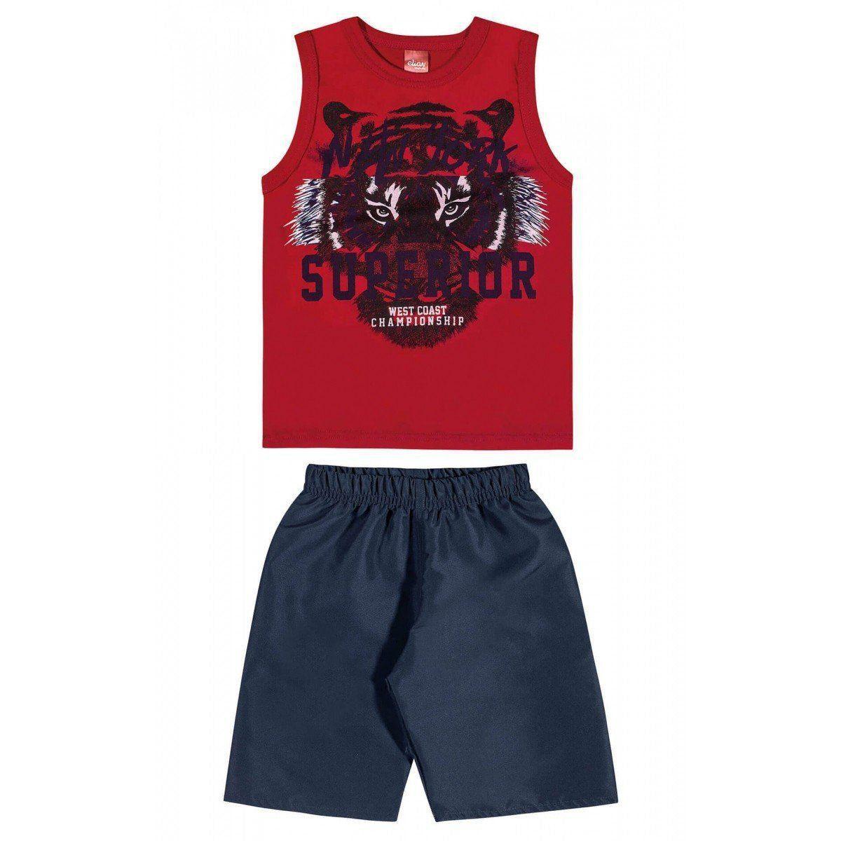Conjunto Infantil Masculino Vermelho New York Elian