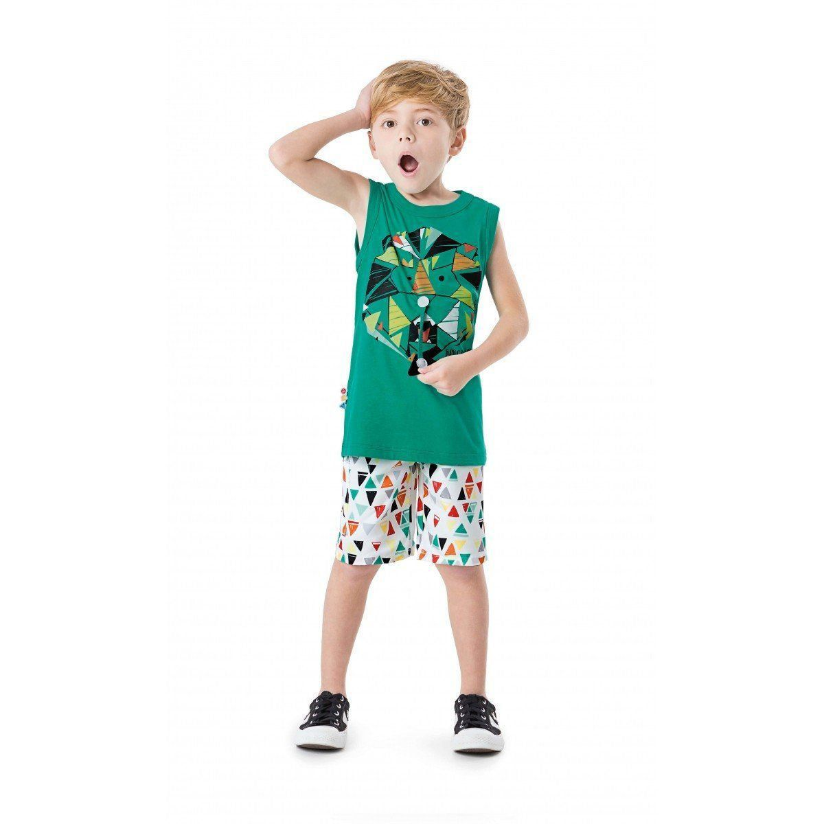 Conjunto Infantil Masculino Verde Adivinhe Quem É? Zig Zig Zaa