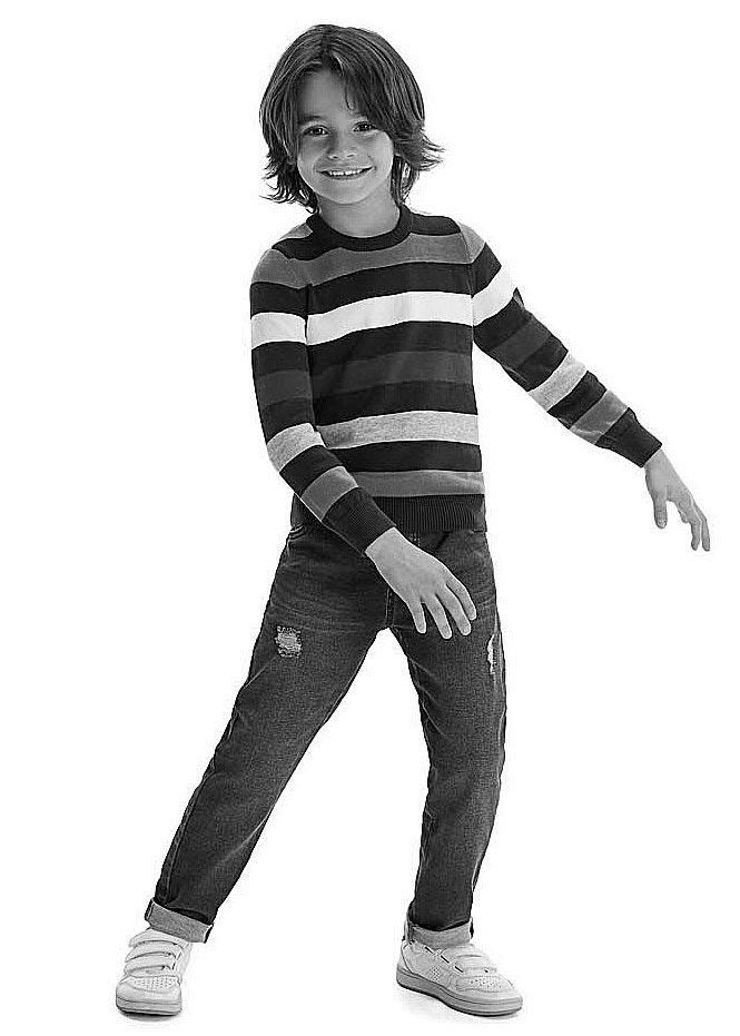 Blusão Inverno Infantil Masculino Cinza Listrado - Malwee