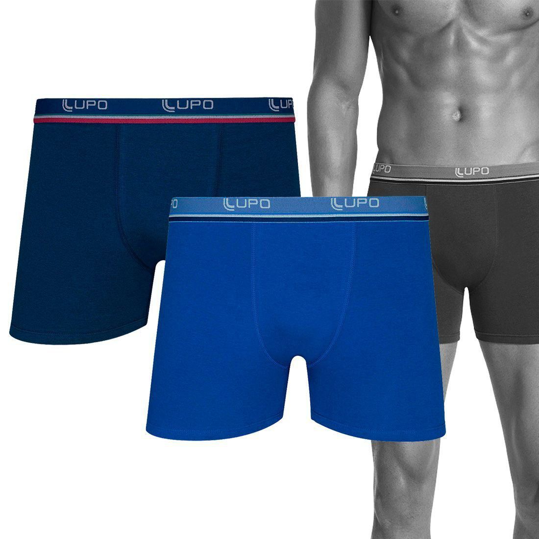 Cueca ADULTO Boxer Kit 2 cuecas 950 Lupo