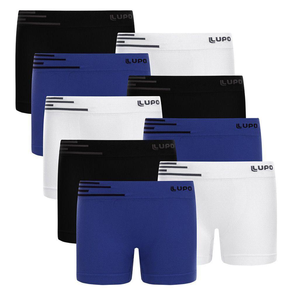 Cueca Infantil Boxer em Microfibra Kit com 9 cuecas Lupo