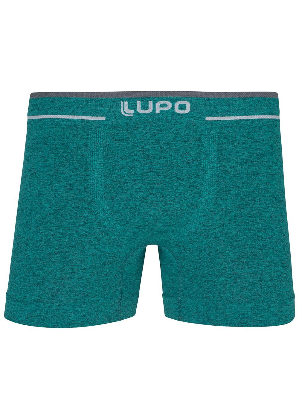 Cueca Infantil Boxer Microfibra Verde Lupo