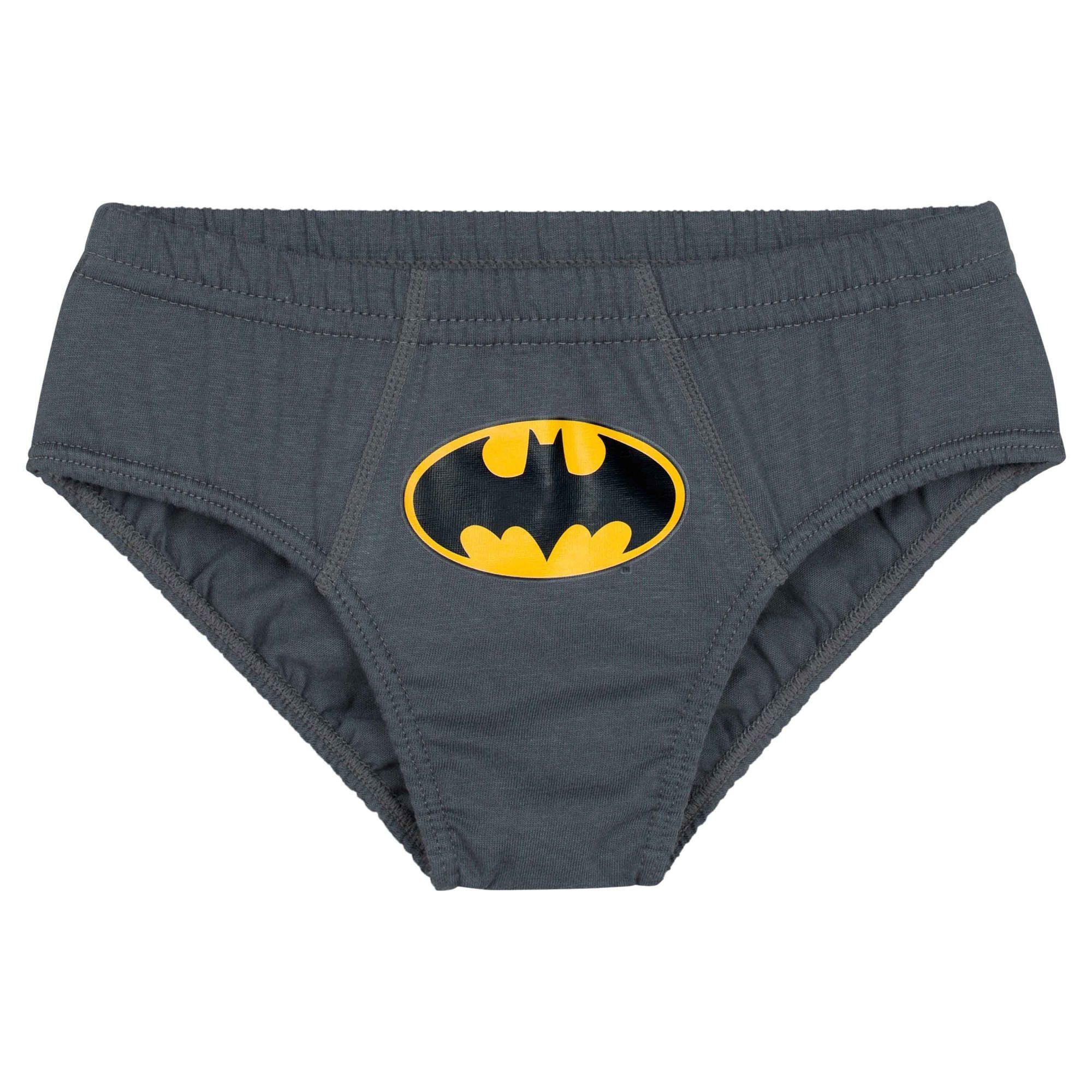 Cueca Infantil Kit 3 cuecas Batman Lupo
