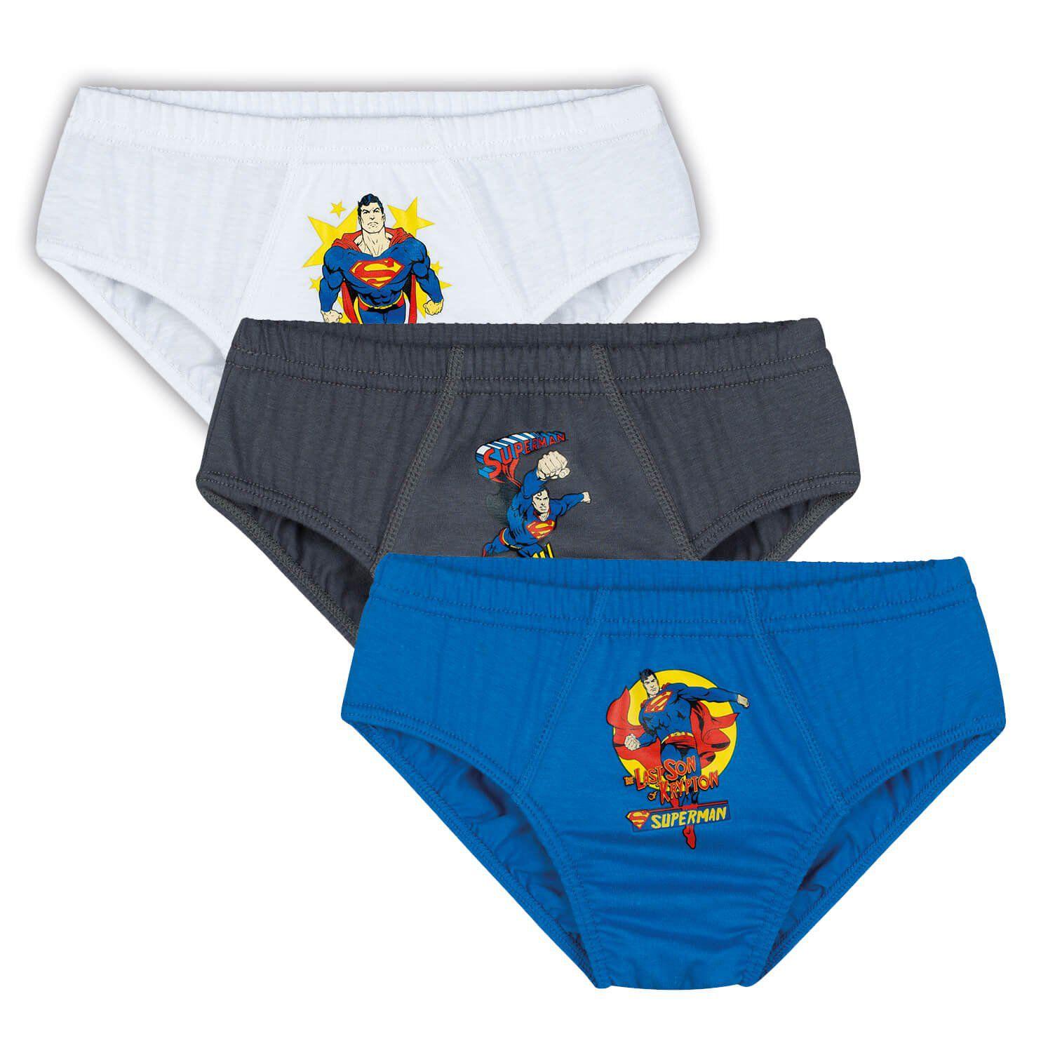 Cueca Infantil Kit 3 cuecas Superman Lupo