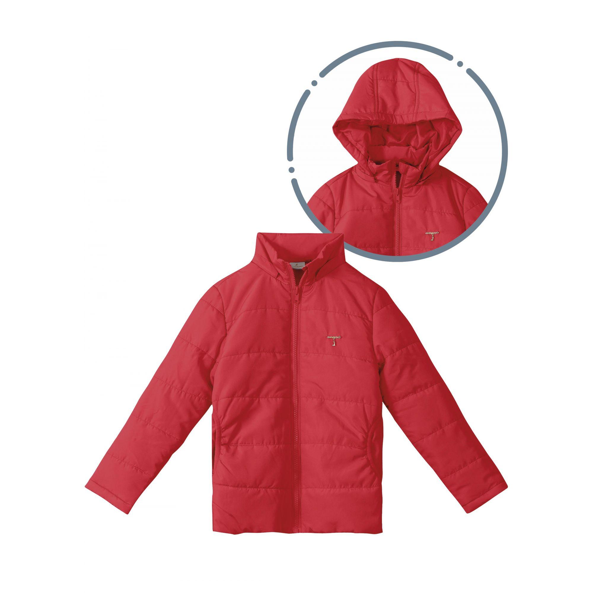 Casaco Infantil Feminino Inverno Vermelha Carinhoso