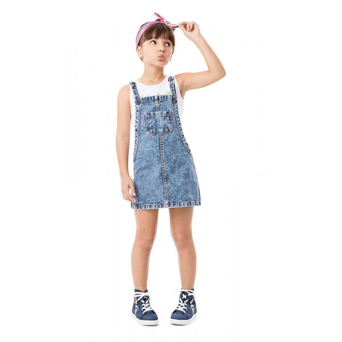 Jardineira Infantil Jeans Malwee