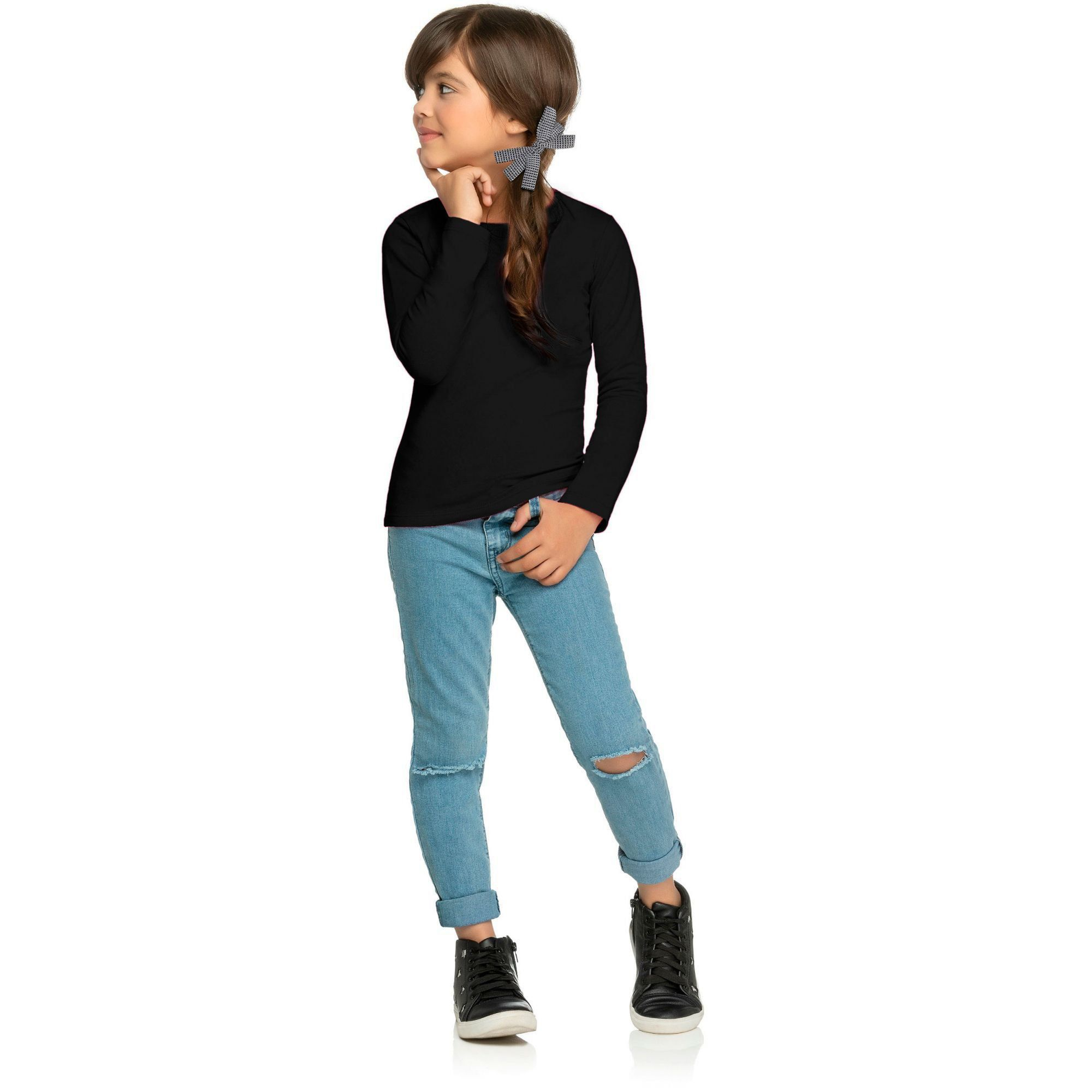 Kit 3 Blusa Infantil Feminina Inverno Elian