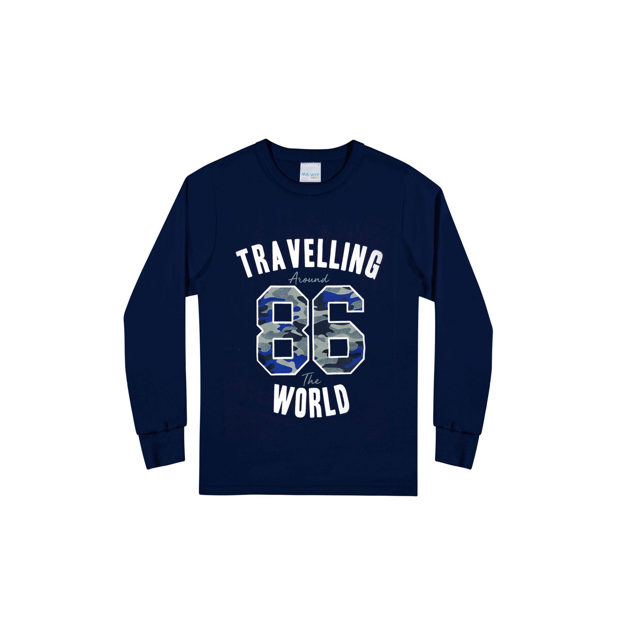 Kit 3 Camiseta Infantil Masculina Inverno VBA Malwee